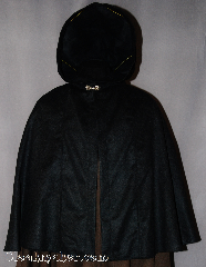 Cloak:2848, Cloak Style:Shaped Shoulder Cloak - Short, Cloak Color:Black, Fiber / Weave:100% Wool, Cloak Clasp:Alpine Knot - Goldtone, Hood Lining:Unlined, Back Length:29&quot;, Neck Length:24&quot;, Seasons:Spring, Fall, Note:The perfect starter cloak for a child or adult.<br>Lightweight accent to any outfit.<br>Sized for play and walking.<br>Dry clean only.
