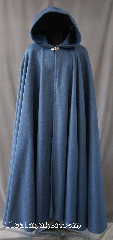 Cloak:2856, Cloak Style:Full Circle Cloak, Cloak Color:French Blue, Fiber / Weave:Economy Fleece, Cloak Clasp:Vale, Hood Lining:Unlined, Back Length:57&quot;, Neck Length:23&quot;, Seasons:Spring, Fall, Note:This warm fleece cloak is<br>versatile and easy to maintain.<br>It is machine washable and<br>features a Silver tone Vale clasp..