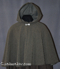 Cloak:2857, Cloak Style:Shaped Shoulder Cloak - Short, Cloak Color:Mushroom Grey, Fiber / Weave:100% Polyester Windpro Fleece with a herringbone finish, Cloak Clasp:Alpine Knot - Silvertone, Hood Lining:Unlined, Back Length:23&quot;, Neck Length:21&quot;, Seasons:Spring, Fall, Southern Winter, Winter, Note:Water beads off!<br>A plush mushroom cloak<br>gives a woodsy addition<br>to your outdoor event.<br>Warm perfect for a child or adult.<br>Dry clean only..