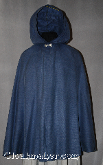 Cloak:2863, Cloak Style:Full Circle Short Cloak, Cloak Color:Slate Blue patterned, Fiber / Weave:Poly Nylon, Cloak Clasp:Alpine Knot - Silvertone, Hood Lining:Unlined, Back Length:38&quot;, Neck Length:23&quot;, Seasons:Spring, Fall, Note:Water beads off!<br>This cloak is practically weightless<br>and protects your outfit while<br>still allowing for arm movement<br>and easy storage..