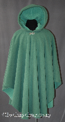 Cloak:2871, Cloak Style:Cape / Ruana, Cloak Color:Mint Green, Fiber / Weave:Fleece, Cloak Clasp:Vale, Hood Lining:Self-lining of Light Mint Green, Back Length:43&quot;, Neck Length:21&quot;, Seasons:Fall, Winter, Spring, Note:This cloak features a warm fully lined<br>minty fleece, completed with a<br>Vale hook-and-eye clasp. <br>It&#039;s perfect for driving on cool evenings<br>and adding a touch of<br>drama and elegance to any outfit.<br>Machine washable.