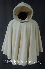 Cloak:2873, Cloak Style:Cape / Ruana, Cloak Color:Off White, Fiber / Weave:Fleece, Cloak Clasp:Vale, Hood Lining:Unlined, Back Length:32&quot;, Neck Length:23&quot;, Seasons:Spring, Fall, Note:Perfect for driving on cool evenings,<br>this ethereal cloak is made from a warm<br>off-white fleece.<br>Good for an indoor winter wedding.<br>Its elegant style<br>is completed with an understated<br>yet ornate Vale hook-and-eye clasp.<br>Machine washable..