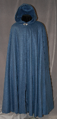 Cloak:2889, Cloak Style:Full Circle Cloak, Cloak Color:Dusty Blue, Fiber / Weave:100% Polyester Fleece, Cloak Clasp:Vale, Hood Lining:Unlined, Back Length:52.25&quot;, Neck Length:26&quot;, Seasons:Fall, Spring, Southern Winter, Note:This cloak is a lightweight<br>dusty blue fleece perfect<br>for cooler nights.  It&#039;s finished<br>with a silver tone Vale<br>hook and eye clasp.<br>Machine washable..
