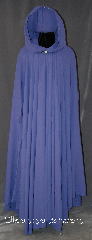 Cloak:3156, Cloak Style:Full Circle Cloak, Cloak Color:Periwinkle/ light purple, Fiber / Weave:Wool Rayon Blend, Cloak Clasp:Vale, Hood Lining:Unlined, Back Length:53&quot;, Neck Length:21&quot;, Seasons:Spring, Fall, Note:This cloak is lightweight with<br>a dramatic drape in a lovely<br>periwinkle  wool rayon blend.<br>Perfect for fall and summer outings,<br>the cloak is finished with a<br>silver tone Vale hook and eye clasp.<br>Machine washable.<br>Cloak can be trimmed to<br>desired length before shipping..