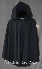 Cloak:2900, Cloak Style:Shaped Shoulder Cloak with 45&quot; liripipe, Cloak Color:Navy Blue, Fiber / Weave:80% Wool/20% Nylon, Cloak Clasp:Alpine Knot - Silvertone, Hood Lining:Unlined, Back Length:34&quot;, Neck Length:19&quot;, Seasons:Spring, Fall, Southern Winter, Winter, Note:With a built in scarf and storage,<br>this Lirepipe hooded cloak is both<br>useful and fashionable when<br>you wrap the elongated hood<br>around your neck in windy weather.<br>It is sized for a young adult, and<br>can be worn with backpack or<br>while hiking on cool evenings.<br>Dry clean only..