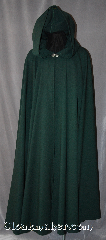 Cloak:2913, Cloak Style:Full Circle Cloak, Cloak Color:Hunter Green, Fiber / Weave:100% Wool, Cloak Clasp:Vale, Hood Lining:Unlined, Back Length:54&quot;, Neck Length:22&quot;, Seasons:Spring, Fall, Note:Smooth not scratchy gaberdine<br>for those who love wool but a softer fabric.<br>This cloak hunter green cloak<br>is light weight with a elegant drape.<br>Accented with a Silver tone Vale<br>hook-and-eye clasp.<br>Dry Clean only..