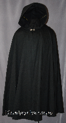 Cloak:2916, Cloak Style:Shaped Shoulder, Cloak Color:Black, Fiber / Weave:100% Cotton, Cloak Clasp:Alpine Knot - Silvertone, Hood Lining:Unlined, Back Length:44&quot;, Neck Length:20.5&quot;, Seasons:Fall, Spring, Note:Machine washable!<br>Perfect for cool evenings adding<br>a touch of drama and elegance.<br>This cloak features a light weight<br>100% cotton fabric accented with<br>a with a silver tone alpine knot<br>hook-and-eye clasp..
