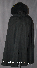 Cloak:2918, Cloak Style:Shaped Shoulder, Cloak Color:Black, Fiber / Weave:100% Cotton, Cloak Clasp:Alpine Knot - Silvertone, Hood Lining:Unlined, Back Length:45&quot;, Neck Length:22&quot;, Seasons:Fall, Spring, Note:Machine washable!<br>Perfect for cool evenings adding<br>a touch of drama and elegance.<br>This cloak features a light weight<br>100% cotton fabric accented with<br>a with a silver tone alpine knot<br>hook-and-eye clasp..