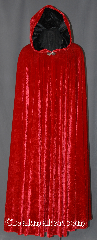 Cloak:2922, Cloak Style:Full Circle Cloak, Cloak Color:Red, Fiber / Weave:High quality Hammered stretch velvet, Cloak Clasp:Vale, Hood Lining:Black Velvet, Back Length:53&quot;, Neck Length:25&quot;, Seasons:Fall, Spring, Note:Fun and bouncy this red<br>high quality hammered stretch<br>velvet cloak moves with<br>you as you walk.<br>The hammered velvet texture<br>adds a bit of drama complemented<br>by the black lined hood.<br>Machine washable!.