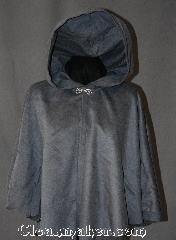 Cloak:2926, Cloak Style:Shaped Shoulder Cloak - Short, Cloak Color:Grey, Fiber / Weave:50% Cashmere / 50% wool, Cloak Clasp:Alpine Knot - Silvertone, Hood Lining:Unlined, Back Length:23.5&quot;, Neck Length:20&quot;, Seasons:Fall, Spring, Note:This soft brushed 50% cashmere wool<br> shape shoulder short cloak<br>is versatile and fashionable.<br>Can be warn by a child or adult.<br>Dry clean only..