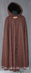 Cloak:2928, Cloak Style:Full Circle Cloak, Cloak Color:Mahogany Brown, Fiber / Weave:100% Wool, Cloak Clasp:Art Deco Salamanders, Hood Lining:Black Velvet, Back Length:57&quot;, Neck Length:22&quot;, Seasons:Winter, Southern Winter, Fall, Spring, Note:This warm, winter weight, mahogany,<br>100% wool full circle cloak<br>will protect you from the<br>winter and fall chill.<br>Adorned with a art deco style brass<br>salamander clasp accented<br>by a black lined hood for a<br>classic look.<br>Dry clean only..