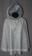 Cloak:2939, Cloak Style:Shaped Shoulder Cloak - Short, Cloak Color:Heathered Grey, Fiber / Weave:100% Wool, Cloak Clasp:Alpine Knot - Silvertone, Hood Lining:Unlined, Back Length:27.5&quot;, Neck Length:18.5&quot;, Seasons:Fall, Spring, Note:This shape shoulder short cloak<br>is a perfect youth starter cloak.<br>Made from a heathered grey<br>100% wool and accented with a<br>classic alpine hook-and-eye clasp.<br>Dry Clean only..