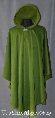 Cloak:2942, Cloak Style:Cape / Ruana, Cloak Color:Green<br>tiny checkerboard-like pattern, Fiber / Weave:Windpro Fleece lightweight, Cloak Clasp:Vale, Hood Lining:Green Fleece lined, Back Length:46&quot;, Neck Length:23&quot;, Seasons:Fall, Spring, Southern Winter, Note:Fully lined Green cloak with a tiny<br>checkerboard like pattern.<br>Lightweight, perfect for<br>woodland adventures.<br>A cross between a cape and a cloak,<br>a ruana is a great way to keep<br>warm while frequent, unhindered<br>use of your arms is needed.<br>This Ruana&#039;s sides measure<br>32&quot; over the arm.<br>Ruanas make great driving cloaks!<br> Machine washable.