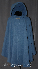 Cloak:2960, Cloak Style:Cape / Ruana extra long (35&quot;) over the shoulder, Cloak Color:Light Blue, Fiber / Weave:Fleece, Cloak Clasp:Triple Medallion, Hood Lining:Matching Felt Sheerling, Back Length:43&quot;, Neck Length:26&quot;, Seasons:Winter, Fall, Spring, Note:A soft and versatile cross between<br>a cape and a cloak,<br>a ruana is a great way to keep warm<br>while frequent, unhindered use of<br>your arms is needed.<br>Ruanas make great driving cloaks!<br>This gorgeous ruana has an outer<br>checkered texture and a complete<br>fleece sheerling interior.<br>Machine washable with a triple medallion<br>hook and eye clasp..