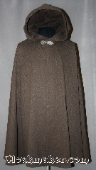 Cloak:2971, Cloak Style:Shaped Shoulder, Cloak Color:Brown and Black tweed, Fiber / Weave:100% Wool melton, Cloak Clasp:Gothic Heart, Hood Lining:Unlined, Back Length:39&quot;, Neck Length:20.5&quot;, Seasons:Fall, Spring, Southern Winter, Note:Made of a brushed tweed<br>100% wool melton.<br>This coffee bean and black shape shoulder<br>cloak is versatile for all occasions<br>with a tailored fit in the shoulders.<br>Short enough for a ranger to hike<br>in the forests or roam the city.<br>Accented with a silver-tone Gothic heart<br>hook and eye clasp for easy closure.<br>Dry clean only..