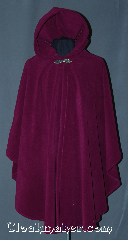 Cloak:3008, Cloak Style:Shaped Shoulder Ruana Cloak, Cloak Color:Fuschia / Dark Orchid, Fiber / Weave:Windpro Fleece, Cloak Clasp:Gothic Heart, Hood Lining:Self-lining, Back Length:39&quot;, Neck Length:21&quot;, Seasons:Winter, Fall, Spring, Note:Warm and cozy this lightweight<br>shaped shoulder ruana<br>windpro fleece cloak is<br>perfect for cold evenings.<br>A cross between a cape and a cloak,<br>a ruana is a great way to keep warm<br>while frequent, unhindered use of<br>your arms is needed.<br>With an overarm of 31&quot; this cloak<br>has less bulk than a<br>traditional Ruana and<br>makes a great driving cloak!<br>Machine washable..