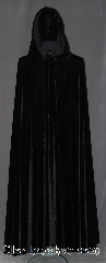 Cloak:3428, Cloak Style:Full Circle Cloak, Cloak Color:Black, Fiber / Weave:High quality Black Stretch Velvet, Cloak Clasp:Vale, Hood Lining:Unlined, Back Length:55&quot;, Neck Length:23&quot;, Seasons:Fall, Spring, Note:Fun and bouncy this black high<br>quality stretch velvet cloak<br>moves with you as you walk.<br>The velvet texture adds a bit of drama<br> complemented by the silver tone<br>vale pewter hook and eye clasp.<br>Machine washable!.