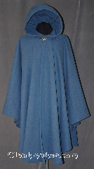 Cloak:3013, Cloak Style:Ruana, Cloak Color:Light Blue, Fiber / Weave:Windpro Waffle Fleece<br>(Wool-like exterior), Cloak Clasp:Vale, Hood Lining:Inner layer fleece, Back Length:49&quot;, Neck Length:23&quot;, Seasons:Fall, Spring, Southern Winter, Winter, Note:Luxurious and functional this windpro<br>ruana cloak blocks more wind<br>than a basic fleece and has<br>a water-repelling outer finish!<br>It&#039;s perfect for New England winters<br>and cold, rainy, windy climates.<br>The inside of the fabric wicks up<br>moisture keeping you dry and warm.<br>The back measures 49&quot; and the front<br>is 43&quot;, and it is 37.5&quot; over the arms.<br>Machine washable cold gentle,<br>tumble dry low.<br>Throw it on and go!.