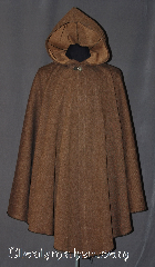 Cloak:3014, Cloak Style:Ruana Ranger Cloak, Cloak Color:Brown Black Amber, Fiber / Weave:100% Cotton, Cloak Clasp:Sissel Pewter, Hood Lining:Unlined, Back Length:43&quot;, Neck Length:20&quot;, Seasons:Fall, Spring, Note:One of a kind ruana ranger cloak<br>made of a camouflage brown<br>and black twill cotton.<br>Accented with a silvertone Sissel<br>pewter clasp add to the elegant look.<br>Machine washable.<br>Can not be reproduced..
