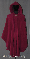 Cloak:3049, Cloak Style:Ruana, Cloak Color:Dark Orchid, Fiber / Weave:Wind Pro Polar Fleece, Cloak Clasp:Vale, Hood Lining:Unlined, Back Length:43&quot;<br>33&quot; overarm, Neck Length:26&quot;, Seasons:Winter, Southern Winter, Fall, Spring, Note:A cross between a cape and a cloak,<br>a ruana is a great way to keep warm<br>while frequent, unhindered use<br>of your arms is needed.<br>Perfect for cold winter evenings<br>with a weighted protection<br>from winter winds.<br>Extra caution recommended<br>when holding children<br>and crossing streets,<br>air will be blocked<br>and sounds will be muffled.<br>Partially water resistant.<br>Adorned with a silver tone<br>vale hook-and-eye clasp.<br>Machine Washable.<br>Never dry clean.