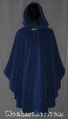 Cloak:3051, Cloak Style:Ruana, Cloak Color:Bright Navy Blue, Fiber / Weave:Windbloc Polar Fleece, Cloak Clasp:Vale, Hood Lining:Unlined, Back Length:40.5&quot;<br>27&quot; overarm, Neck Length:25&quot;, Seasons:Winter, Southern Winter, Fall, Spring, Note:A cross between a cape and a cloak,<br>a ruana is a great way to keep warm<br>while frequent, unhindered use<br>of your arms is needed.<br>Perfect for cold winter evenings<br>with a weighted protection<br>from winter winds.<br>Blocks all wind to keep you warmer<br>Extra caution recommended<br>when crossing streets,<br>air will be blocked<br>and sounds will be muffled.<br>Partially water resistant.<br>Adorned with a silver tone<br>vale hook-and-eye clasp.<br>Machine Washable.<br>Never dry clean.
