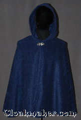 Cloak:3054, Cloak Style:Shaped Shoulder Cloak - Short, Cloak Color:Blue, Fiber / Weave:Polyester  Fleece, Cloak Clasp:Vale, Hood Lining:Unlined, Back Length:30&quot;, Neck Length:21&quot;, Seasons:Fall, Spring, Note:This lightweight blue fleece<br>short shape shoulder cloak<br>is perfect for a child or adult<br>for cooler nights..<br>Adorned with a silver tone<br>Vale hook-and-eye clasp.<br>Machine Washable..