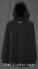 Cloak:3056, Cloak Style:Cape, Cloak Color:Grey, Fiber / Weave:100% Polyester brush twill, Cloak Clasp:Alpine Knot - Silvertone, Hood Lining:Unlined, Back Length:32&quot;, Neck Length:18.5&quot;, Seasons:Fall, Spring, Note:Made from a grey brush twill,<br>corduroy like, polyester that is<br>light weight and machine washable.<br>Youth sized perfect for<br>cool evenings in fall or spring.<br>Adorned with a simple<br>Alpine Knot hook and eye clasp..