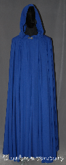 Cloak:3069, Cloak Style:Full Circle Cloak, Cloak Color:Cobalt Blue, Fiber / Weave:Poly Rayon Blend, Cloak Clasp:Drage Pewter, Hood Lining:Unlined, Back Length:53.5&quot;, Neck Length:22&quot;, Seasons:Summer, Fall, Spring, Note:Lightweight and with a dramatic drape<br>this cobalt blue full circle cloak<br>is made of a poly blend.<br>Accented with a silver tone<br>drage hook and eye clasp.<br>Machine washable.<br>Can be hemmed to size..