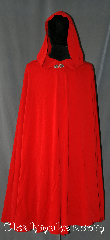 Cloak:3087, Cloak Style:Full Circle Cloak, Cloak Color:Red, Fiber / Weave:Cotton Polyester blend, Cloak Clasp:Vale, Hood Lining:Unlined, Back Length:46&quot;, Neck Length:23&quot;, Seasons:Summer, Fall, Spring, Note:Fancy being red riding hood for a bit?<br>Add a touch of drama and elegance.<br>Features a Vale hook and eye clasp<br><br>Machine washable..