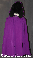 Cloak:3106, Cloak Style:Shaped Shoulder Rain Cloak, Cloak Color:Violet / purple, Fiber / Weave:Power Shield / Polyester, Cloak Clasp:Stina Pewter, Hood Lining:Interior fleece backing, Back Length:33&quot;, Neck Length:15&quot;, Seasons:Fall, Spring, Note:Water resistant heavy duty<br>Power shield cloak in violet purple.<br>Child sized for  outdoor activities.<br>With a soft matching fleece lining and<br>arm slits for ease of everyday use.<br>This cloak will keep you warm and<br>protected from most weather.<br>Machine washable tumble dry hang..