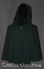 "Cloak:3130, Cloak Style:Full Circle Short Cloak (Attack on Titan), Cloak Color:Hunter Green, Fiber / Weave:6% lycra fine wool blend suiting, Cloak Clasp:Shank Button, Hood Lining:Unlined, Back Length:27&quot;, Neck Length:22&quot;, Seasons:Fall, Spring, Note:""If I don&#039;t fight, I can&#039;t win.&quot;<br>Based on the popular anime series<br>Attack on Titan<br>(Shingeki no Kyojin)<br>this short wool cloak can be<br>worn for scouting missions or<br>everyday activities.<br>Made of a lightweight wool blend<br>with a metal shank button.<br>Dry clean or spot wash only.."