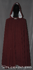Cloak:3133, Cloak Style:Full Circle Cloak, Cloak Color:Heathered maroon, Fiber / Weave:100% Wool, Cloak Clasp:Triple Medallion, Hood Lining:Light Grey Velvet, Back Length:42&quot;, Neck Length:22&quot;, Seasons:Fall, Spring, Southern Winter,, Note:This gorgeous heathered maroon<br>full circle cloak with a<br>light grey velvet hood is<br>perfect for a night on the town.<br>Made of a wool blend<br>with flecks of color throughout,<br>it is mesmerizing.<br>Can be hemmed to height<br>Dry Clean Only.