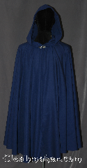 Cloak:3137, Cloak Style:Full Circle Cloak, Cloak Color:Midnight Blue, Fiber / Weave:100% Polyester, Cloak Clasp:Vale, Hood Lining:Unlined, Back Length:38.5&quot;, Neck Length:21&quot;, Seasons:Fall, Spring, Note:Easy care polyester makes this<br> midnight blue cloak an easy and elegant choice for a little<br>extra warmth on a spring evening.<br>Great for a day at the Renaissance Fair or a weekend LARP.<br>Machine washable cold gentle, tumble dry low.<br>Throw it on and go!.