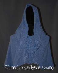 Cloak:3139, Cloak Style:Pullover Capelet w/ pouch, Cloak Color:Periwinkle Blue, Fiber / Weave:Rayon weave, Cloak Clasp:None, Hood Lining:Unlined, Back Length:15&quot;, Neck Length:28&quot;, Seasons:Fall, Spring, Summer, Note:Too hot for a full circle cloak?<br>This light weight pullover caplet<br>is the perfect non toxic sunscreen.<br>The pointed hood is very roomy,<br>2x deeper than our average hoods!<br>with a 44&quot; diameter opening!<br>Made of a lightweight breathable<br>woven rayon with a<br>matching coin pouch. <br>Machine washable lay flat to dry..