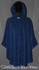 Cloak:3165, Cloak Style:Cape / Ruana, Cloak Color:Egyptian Blue, Fiber / Weave:Windbloc Fleece, Cloak Clasp:Vale, Hood Lining:Self-lining, Back Length:41&quot; back<br>28&quot; overarm, Neck Length:20.5&quot;, Seasons:Winter, Fall, Spring, Note:Made of Windbloc Fleece<br>(a thick plush material that is<br>warm and windproof)<br>this cloak is perfect for cold winters.<br>The Ruana shape with  shortened<br>sides allows easy arm access for<br>everyday activities.  The cloak is competed<br>with a silver tone Vale hook.