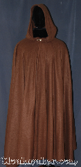 Cloak:3188, Cloak Style:Full Circle Cloak, Cloak Color:Caramel Brown, Fiber / Weave:Fleece, Cloak Clasp:Alpine Knot - Goldtone, Hood Lining:Unlined, Back Length:53&quot;, Neck Length:27&quot;, Seasons:Fall, Spring, Note:Lightweight economy fleece<br>provides a warmth with<br>very little weight.<br>This caramel full circle cloak<br>is suitable for indoor wear<br>late spring, early fall,<br>cool summer evenings or<br>just snuggling on the couch.<br>Easy care machine washable..