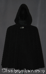 Cloak:3189, Cloak Style:Full Circle Cloak, Cloak Color:Black, Fiber / Weave:Fleece, Cloak Clasp:Vale, Hood Lining:Unlined, Back Length:29.5&quot;, Neck Length:23&quot;, Seasons:Fall, Spring, Note:Made of a plush cuddly fleece<br>this short full circle cloak is sized<br>for both for youth or adults.<br>Versatile for either lounging on<br>the couch or snuggling on outings. <br>The short full circle design allows<br>adults easy arm access for<br>everyday activities.<br>Accented with a silver tone<br>Vale hook and eye clasp.<br> Made with fleece that is machine washable<br>durable and long lasting..
