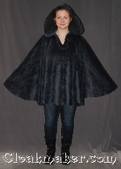 Cloak:3299, Cloak Style:Ruana Pullover Cloak, Cloak Color:Grey/Blue, Fiber / Weave:Furry fleece polyester, Cloak Clasp:Modern Hook and Eye<br>hidden, Hood Lining:Self-lining, long pile, Back Length:32&quot; back and overarm, Neck Length:22&quot;, Seasons:Fall, Spring, Note:Ultra cosy and fun to take for a spin<br>this warm bluish grey pullover ruana<br>is fluffy inside and out.<br>Made with a two sided fabric<br>Machine Washable..
