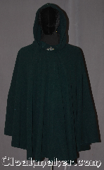 Cloak:3300, Cloak Style:Ruana, Cloak Color:Forest/Dartmouth Green, Fiber / Weave:Fleece, Cloak Clasp:Vale, Hood Lining:Unlined Reversible, Back Length:34&quot;, Neck Length:23&quot;, Seasons:Fall, Spring, Note:Lightweight and classic, this green<br>fleece cloak is perfect for sport outings<br>and walking in the woods.<br>Machine washable..