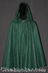 Cloak:3303, Cloak Style:Full Circle Cloak w/ lirapipe hood, Cloak Color:Green, Fiber / Weave:Fleece, Cloak Clasp:Vale, Hood Lining:Unlined, Back Length:42&quot;, Neck Length:20.5&quot;, Seasons:Fall, Spring, Note:This green lightweight economy fleece<br>lirepipe full circle short cloak provides<br>warmth with very little weight.<br>Suitable for indoor wear late spring,<br>early fall, cool summer evenings<br>or just snuggling on the couch.<br>A lirepipe is both useful and fashionable<br>when you wrap the elongated hood<br>around your neck in windy weather.<br>Easy care /machine washable..