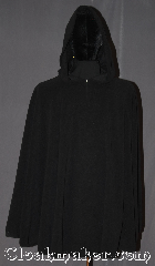 Cloak:3322, Cloak Style:Full Circle Cloak Pullover poncho, Cloak Color:Black, Fiber / Weave:100% Polyester Fleece, Cloak Clasp:Hidden Hook & Eye, Hood Lining:Unlined, Back Length:36&quot;, Neck Length:26&quot; open, Seasons:Fall, Spring, Note:Lightweight and easy care, <br>this black pullover is a great piece<br>of fall/spring outerwear.<br>Made  with polyester fleece, this unlined cloak<br>makes a great accessory for everyday wear,<br> LARP or Renaissance Fair.<br>The cloak is machine washable, so throw it on<br>whenever you need some extra warmth..