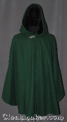 Cloak:3327, Cloak Style:Shaped Shoulder Ruana Cloak, Cloak Color:Hunter Green, Fiber / Weave:100% Wool Melton, Cloak Clasp:Vale, Hood Lining:Black Silk Velvet, Back Length:31.5&quot; back<br>31&quot; overarm, Neck Length:22&quot;, Seasons:Fall, Spring, Southern Winter, Winter, Note:A cross between a cape and a cloak,<br>a shape shoulder ruana is a great way <br>to keep warm while frequent,<br>unhindered use of your arms <br>is needed.<br>Made with a fitted shoulder<br>for less bulk and a black velvet<br>lined hood with vale clasp closure.<br>Ruanas make great driving cloaks!<br>Handwash cold.