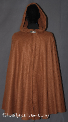 Cloak:3335, Cloak Style:Full Circle Cloak, Cloak Color:Caramel Brown, Fiber / Weave:Fleece, Cloak Clasp:Vale, Hood Lining:Unlined, Back Length:42&quot;, Neck Length:20.5&quot;, Seasons:Fall, Spring, Note:Lightweight economy fleece provides a<br>warmth with very little weight.<br>This caramel full circle cloak<br>is suitable for indoor wear late spring,<br>early fall, cool summer evenings<br>or just snuggling on the couch.<br>Easy care machine washable..