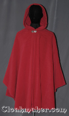 Cloak:3345, Cloak Style:Cape / Ruana, Cloak Color:Rose Red, Fiber / Weave:Honeycomb Surface Fleece, Cloak Clasp:Vale, Hood Lining:Self-lined with low<br>velour fleece, Back Length:38&quot;, Neck Length:20.5&quot;, Seasons:Southern Winter, Fall, Spring, Note:A cross between a cape and a cloak, a ruana<br>is a great way to keep warm while<br>frequent, unhindered use of your arms <br>is needed. Ruanas make great driving cloaks!<br>Machine washable cold gentle, tumble dry low.<br>Throw it on and go!.