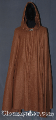 Cloak:3360, Cloak Style:Full Circle Cloak, Cloak Color:Caramel Brown, Fiber / Weave:Fleece, Cloak Clasp:Vale, Hood Lining:Unlined, Back Length:44&quot;, Neck Length:21&quot;, Seasons:Fall, Spring, Note:Lightweight economy fleece provides<br>a warmth with very little weight.<br>This caramel full circle cloak is suitable<br>for indoor wear late spring,<br>early fall, cool summer evenings<br>or just snuggling on the couch.<br>Easy care machine washable..