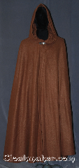 Cloak:3368, Cloak Style:Full Circle Cloak, Cloak Color:Caramel Brown, Fiber / Weave:Fleece, Cloak Clasp:Vale, Hood Lining:Unlined, Back Length:52&quot;, Neck Length:21.5&quot;, Seasons:Fall, Spring, Note:Lightweight economy fleece provides<br>a  warmth with very little weight.<br>This caramel full circle cloak is suitable<br>for indoor wear late spring,<br>early fall, cool summer evenings<br>or just snuggling on the couch.<br>Easy care machine washable..