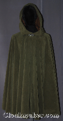 Cloak:3382, Cloak Style:Full Circle Cloak<br>Rangers Apprentice Rain Cloak, Cloak Color:Olive Green, Fiber / Weave:Polyester Microsuede<br>with Satin interior double sided fabric<br>Water resistant, Cloak Clasp:Vale, Hood Lining:Faux Suede brown, Back Length:40&quot;, Neck Length:21&quot;, Seasons:Fall, Spring, Summer, Note:Archers and Rangers become invisible in the<br>dense forests of Araluen<br>with a water resistant circle cloak<br>made of a soft green microfiber and satin interior<br> With a faux suede lined hood, dramatic drape,<br>and simple vale clasp. This cloak would<br>be the pride of any Ranger&#039;s Apprentice<br>Machine washable..