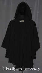 Cloak:3402, Cloak Style:Ruana, Cloak Color:Black, Fiber / Weave:Windblock Polar Fleece, Cloak Clasp:Triple Medallion, Hood Lining:Unlined, Back Length:34&quot;/ 31&quot; overarm, Neck Length:23&quot;, Seasons:Winter, Southern Winter, Fall, Spring, Note:Warm and cozy this lightweight<br> ruana<br>windpro fleece cloak is<br>perfect for cold evenings.<br>A cross between a cape and a cloak,<br>a ruana is a great way to keep warm<br>while frequent, unhindered use of<br>your arms is needed.<br>With an overarm of 31&quot; this cloak<br>has less bulk than a<br>traditional Ruana and<br>makes a great driving cloak!<br>Machine washable..