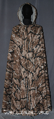 Cloak:3431, Cloak Style:Full Circle Cloak/ Rangers Apprentice, Cloak Color:Brown, Black, tan, white<br>camouflage, Fiber / Weave:Cotton canvas, Cloak Clasp:TBD, Hood Lining:Unlined tan interior double sided fabric, Back Length:52&quot;, Neck Length:22&quot;, Seasons:Southern Winter, Fall, Spring, Note:The pride of any Ranger&#039;s Apprentice;<br>this brown and black camouflage full circle cloak<br>allows you to blend into the dense<br>forests of for a classic hunt.<br>Made of a cotton canvas of a<br>forest phantom repeating camouflage pattern<br>with a trademark scattered throughout.<br>Machine washable.