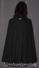 Cloak:3458, Cloak Style:Full Circle Cloak, Cloak Color:Heathered Grey, Fiber / Weave:Wool Blend, Cloak Clasp:Vale, Hood Lining:Maroon Velvet, Back Length:40.5&quot;, Neck Length:21&quot;, Seasons:Fall, Spring, Southern Winter, Winter, Note:A classic charcoal grey heathered<br>full circle cloak is the<br>versatile accessory for any occasion.<br>Accented with a maroon velvet<br>hood lining and triple medallion clasp.<br>Can be hemmed to height.<br>Dry clean only.